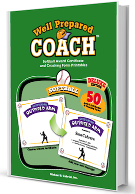 softball award certificate templates image