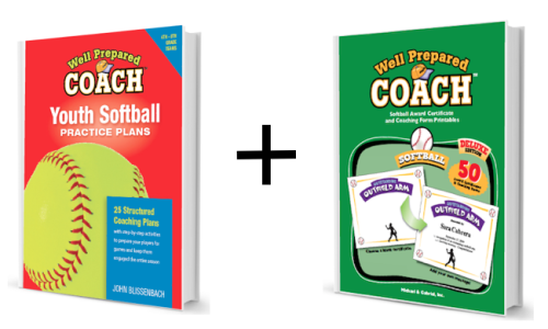 softball practice plans and awards bundle image