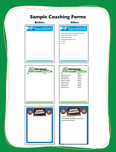 softball award certificate and coaching form printables softball