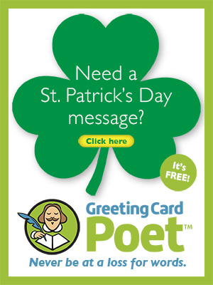 St. Patrick's Day messages ad